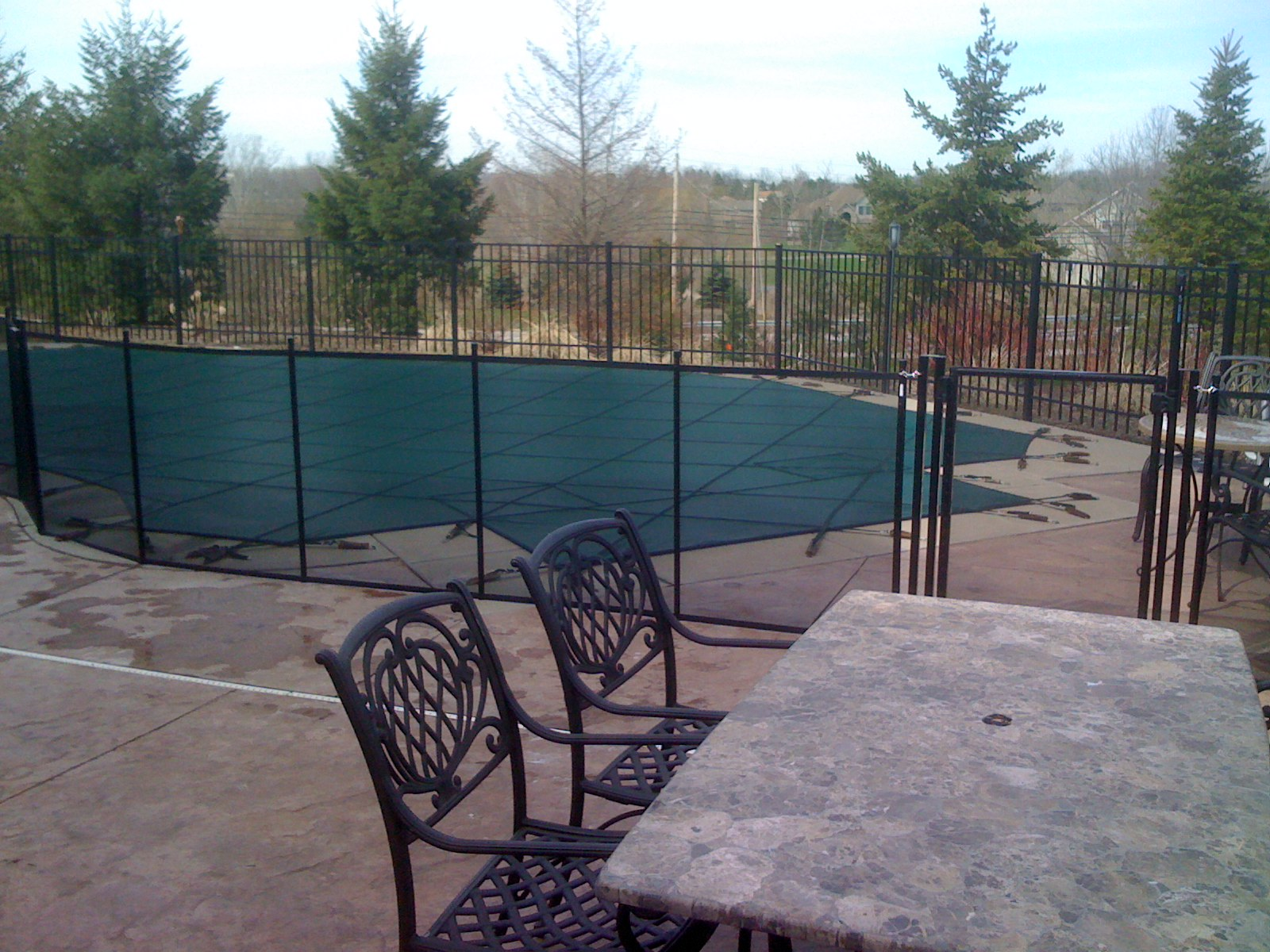 Life savor pool fences north greece landscape in for Pool design rochester ny