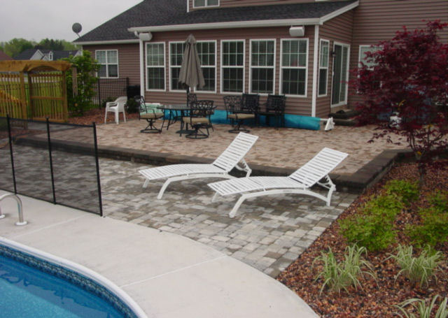 Patio designs north greece landscape in rochester ny for Pool design rochester ny